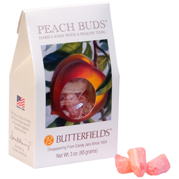 3oz Peach buds candy