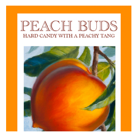 Butterfields Old Fashioned Candies by Butterfields Candy - Peach Buds hard candy with a peachy tang